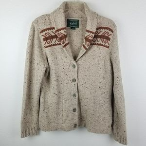 Woolrich Heather Stone Button Front Cardigan Women